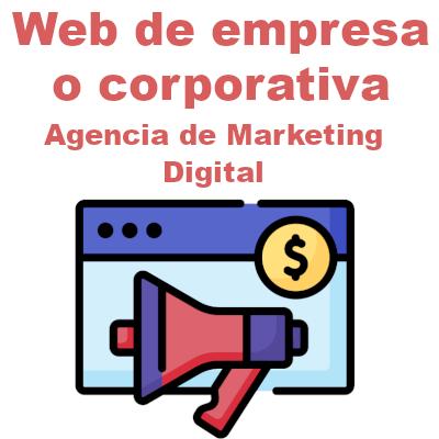 Web de empresa o corporativa: Agencia de marketing digital